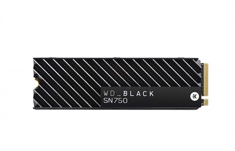 SSD WD Black SN750 500GB NVMe Internal Gaming SSD with Heatsink