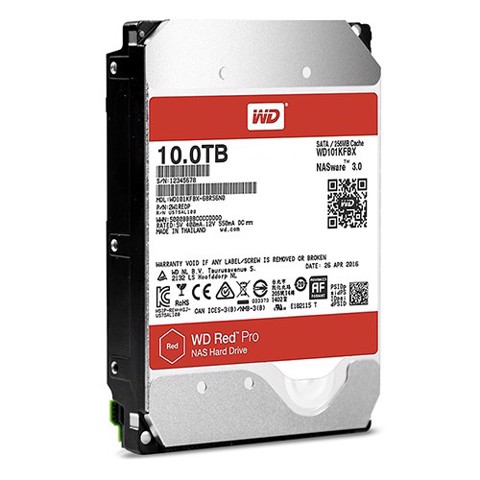 HDD WD RED PRO 10TB, 3.5, SATA 3, 256MB CACHE, 7200RPM