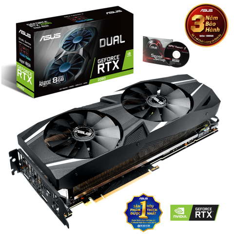 ASUS DUAL GEFORCE RTX™ 2080 EVO ADVANCED EDITION 8GB GDDR6