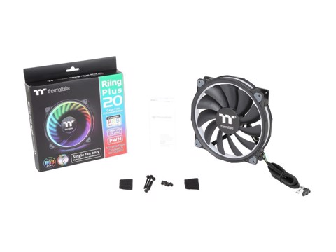 THERMALTAKE RIING PLUS 20 RGB (SINGLE FAN PACK W/O CONTROLLER)