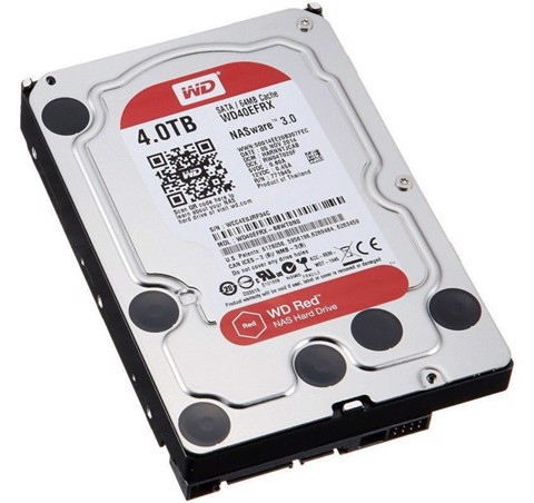 HDD WD RED 4TB, 3.5, SATA 3, 64MB CACHE, 5400RPM