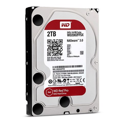 HDD WD RED PRO 2TB, 3.5, SATA 3, 256MB CACHE, 7200RPM