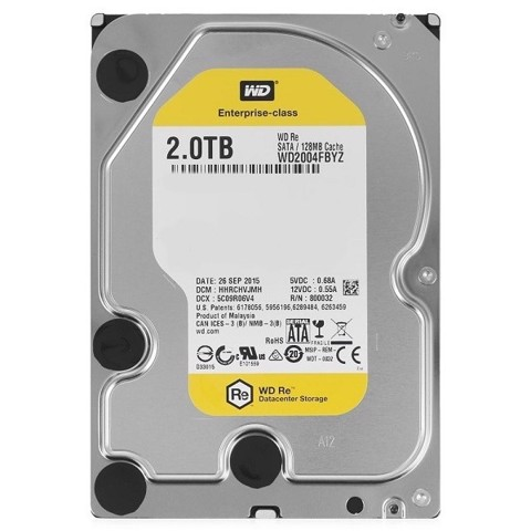 HDD WD GOLD 2TB 7200RPM 128MB 3.5'' SATA 6GB/S