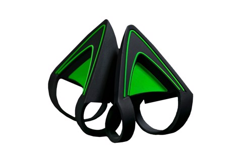 KITTY EARS FOR RAZER KRAKEN - GREEN