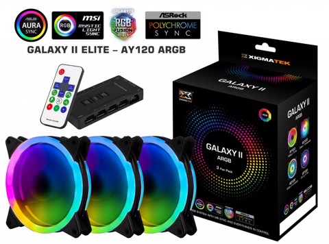 XIGMATEK GALAXY II ELITE - AY120 ( PACK 3 FAN + CONTROLLER )