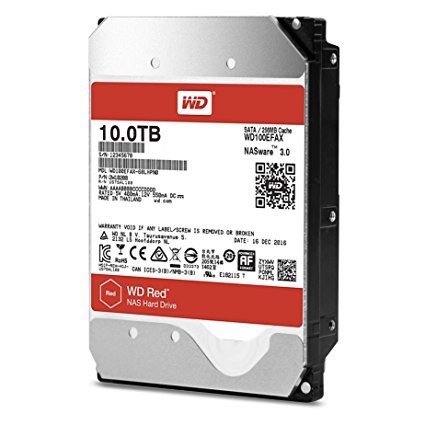 HDD WD RED 10TB, 3.5, SATA 3, 256MB CACHE, 5400RPM
