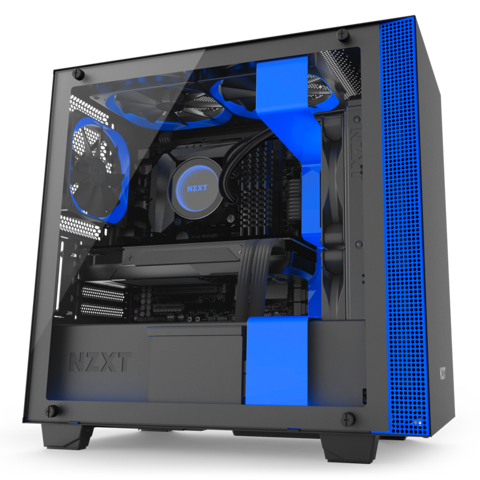 Case NZXT H400I SMART MATX CASE ( BLACK/ RED/ BLUE )