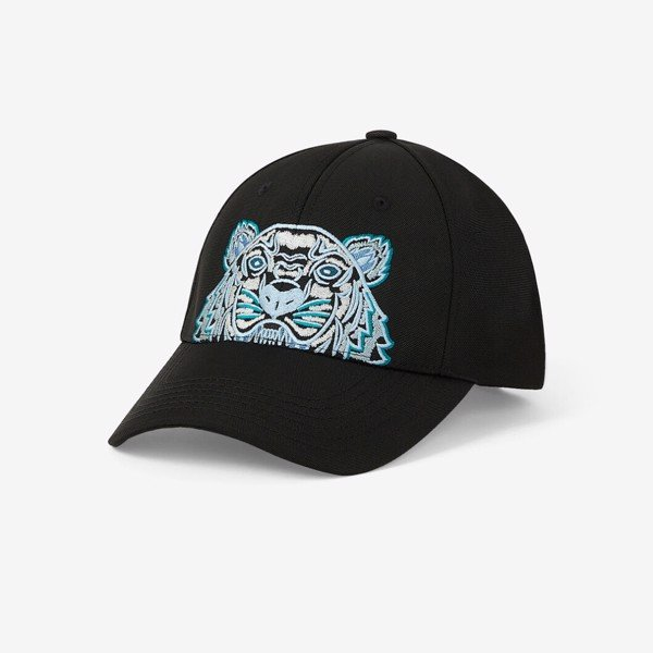 KENZO Canvas Kampus Tiger Cap - Black/Blue