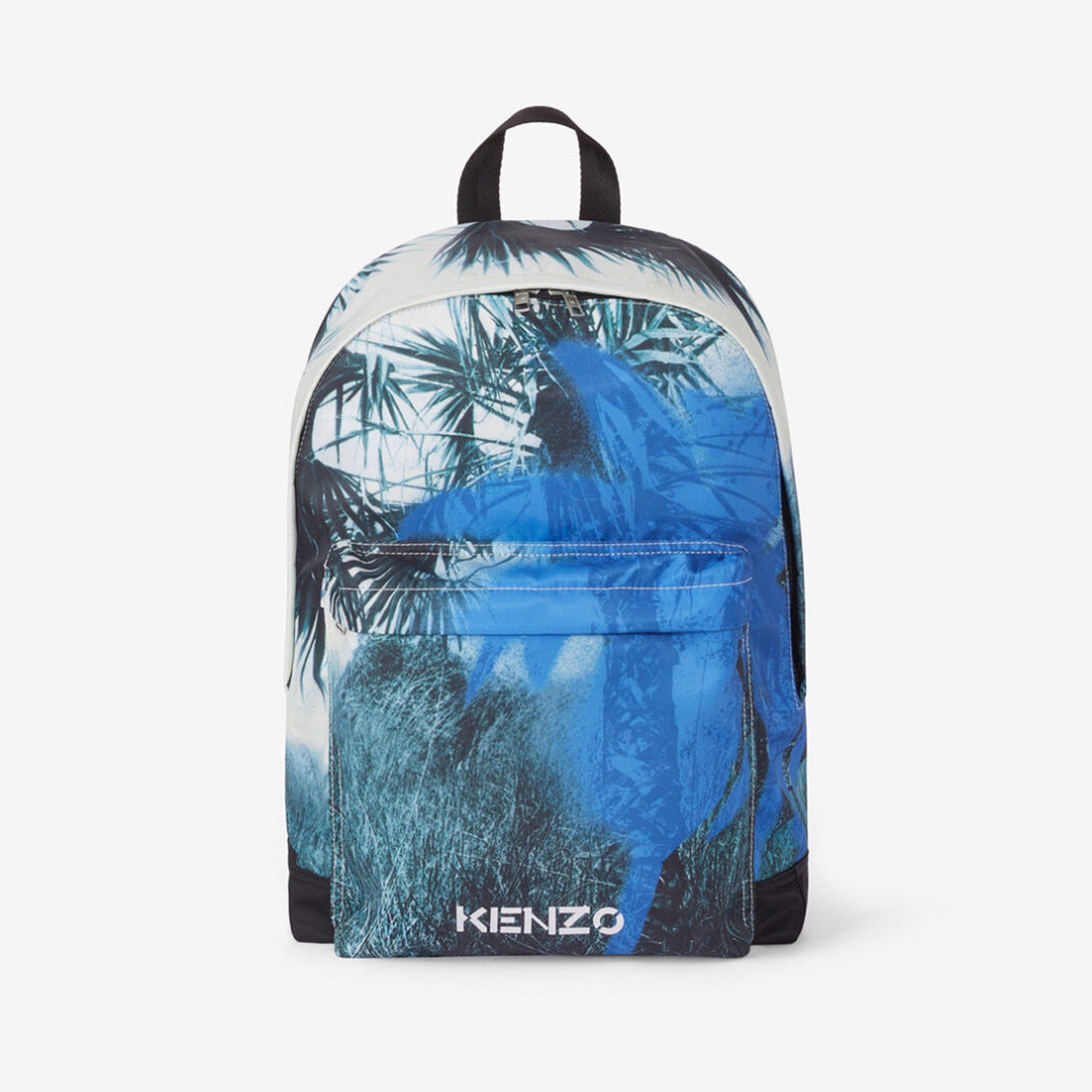 KENZO Hawaiian Graffiti Backpack - Cyan