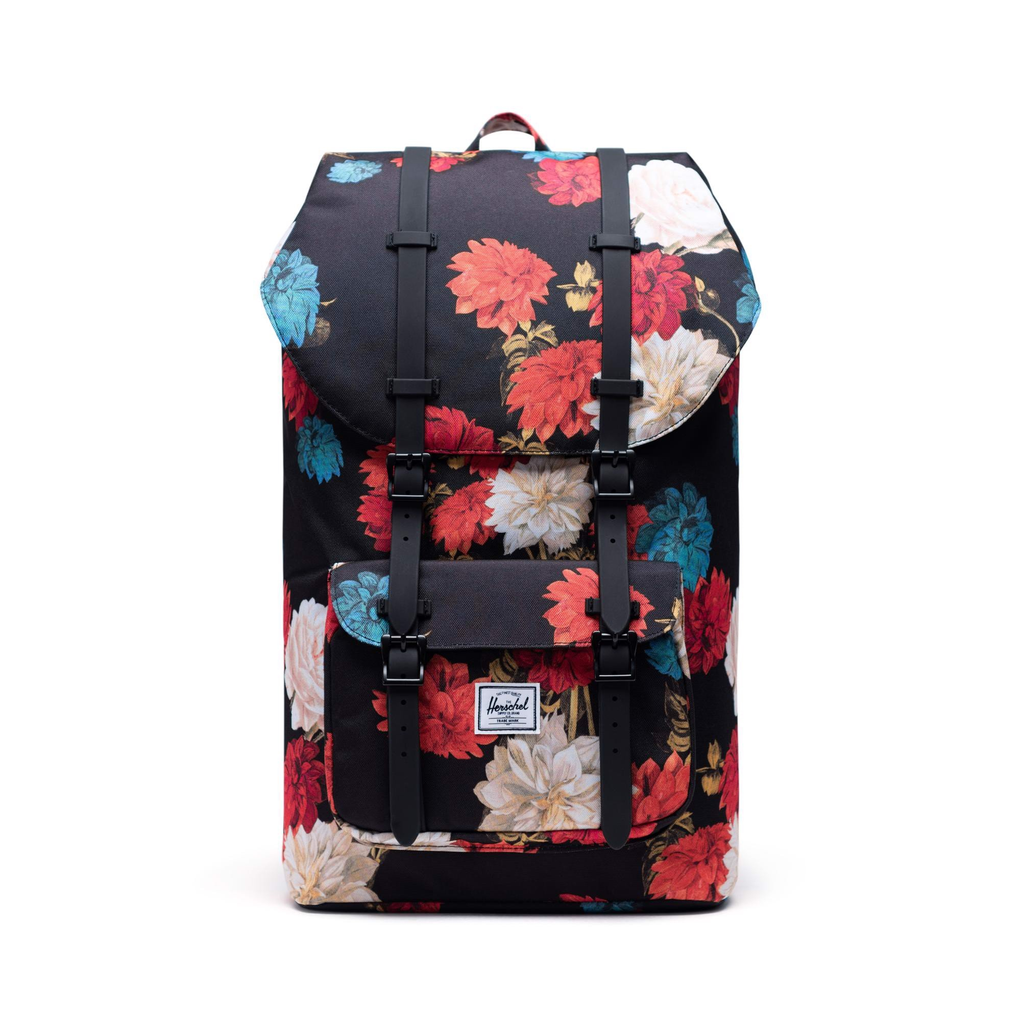 Herschel Little America | Large-Volume - Vintage Floral/Black