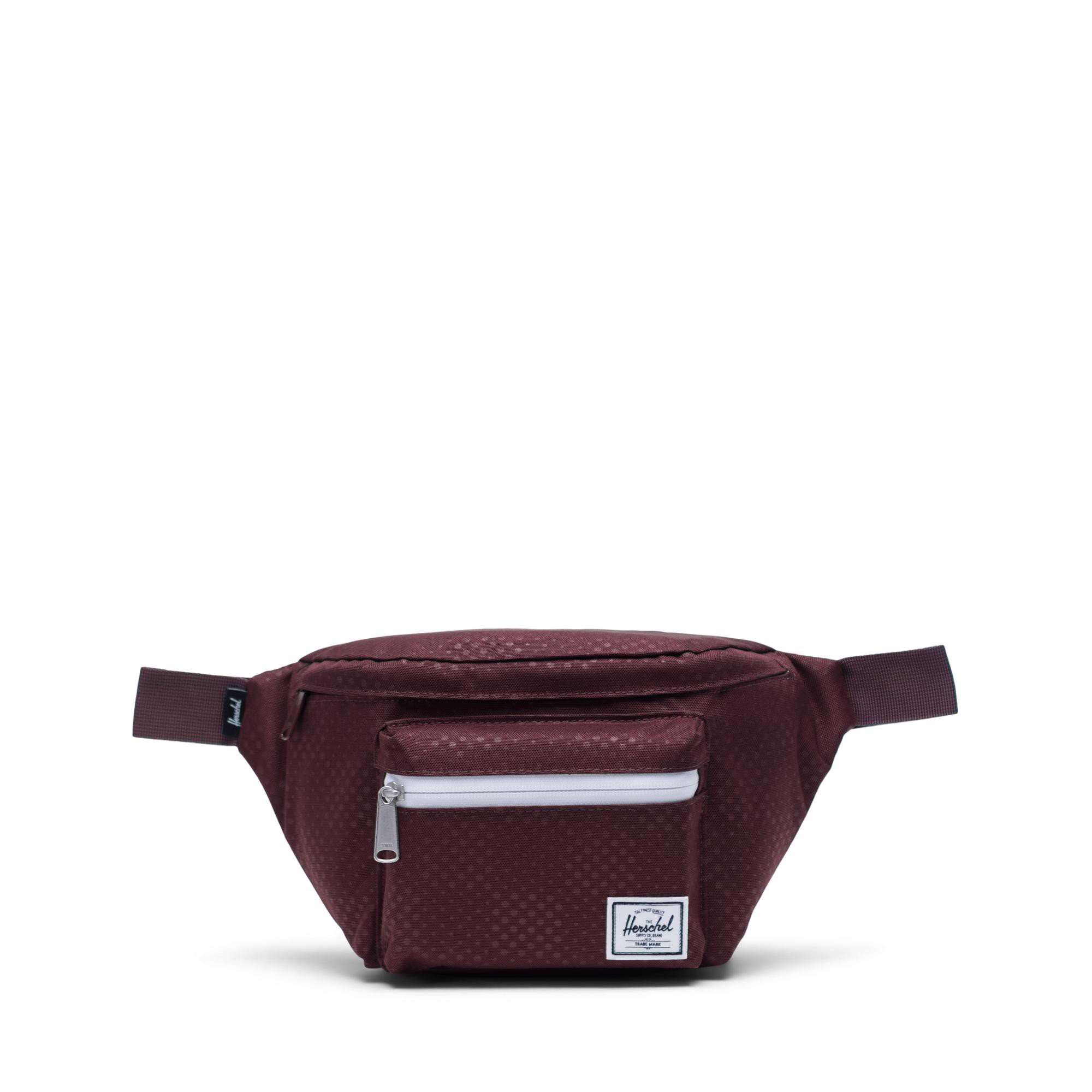 Herschel Seventeen Hip Pack - Plum Dot Check