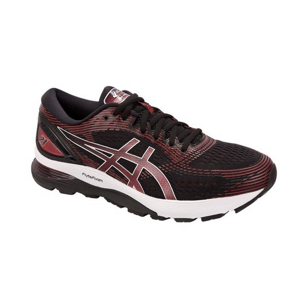 ASICS Gel-Nimbus 21 'Black/Classic Red'