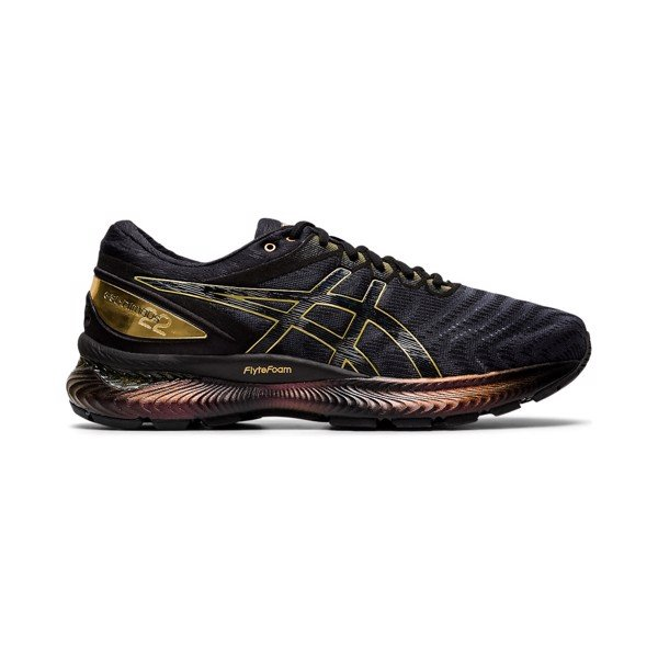 ASICS Gel-Nimbus 22 Platinum 'Black/Pure Gold'