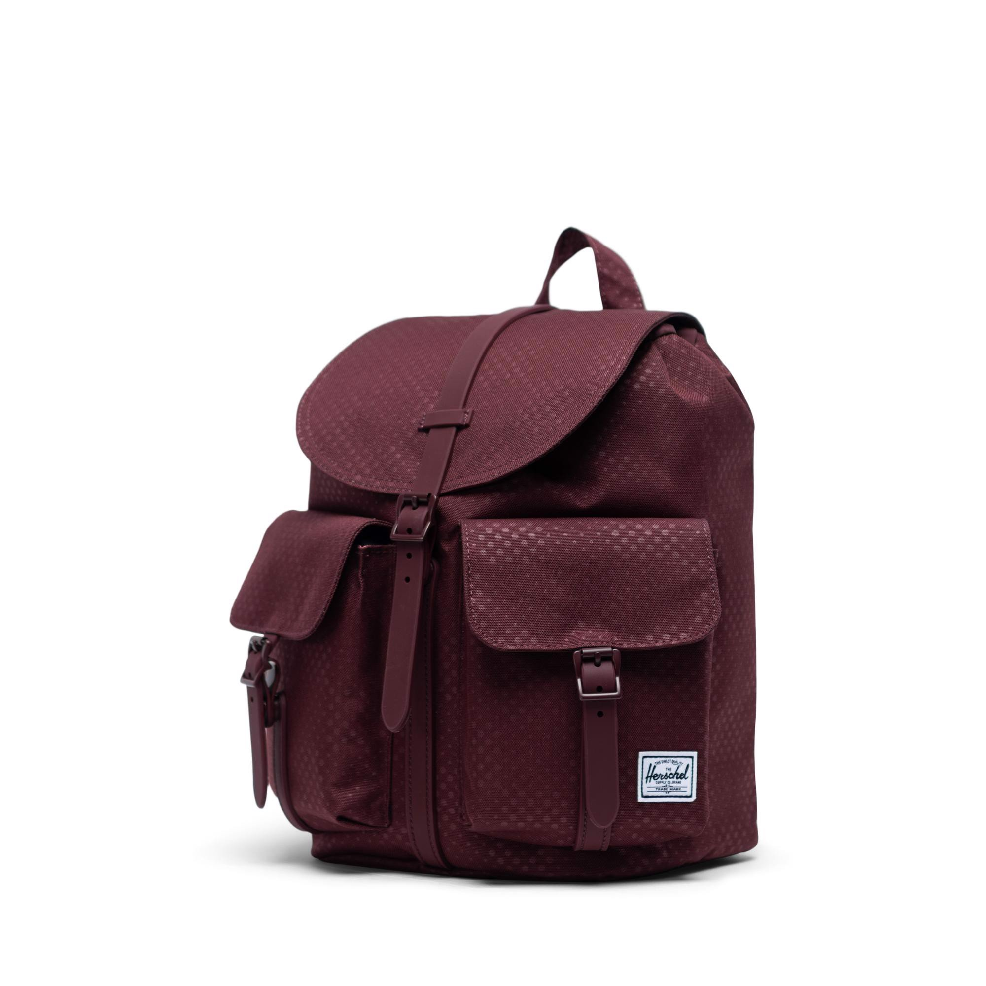 Herschel Dawson Small - Plum Dot Check