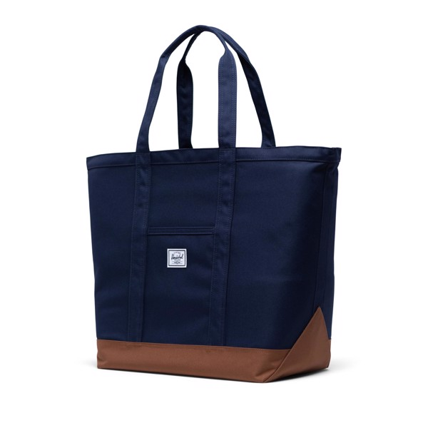 Herschel Bamfield Tote | Mid-Volume - Peacoat/Saddle Brown