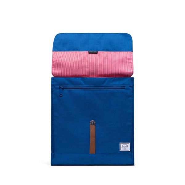 Herschel City Backpack | Mid-Volume - Monaco Blue Crosshatch