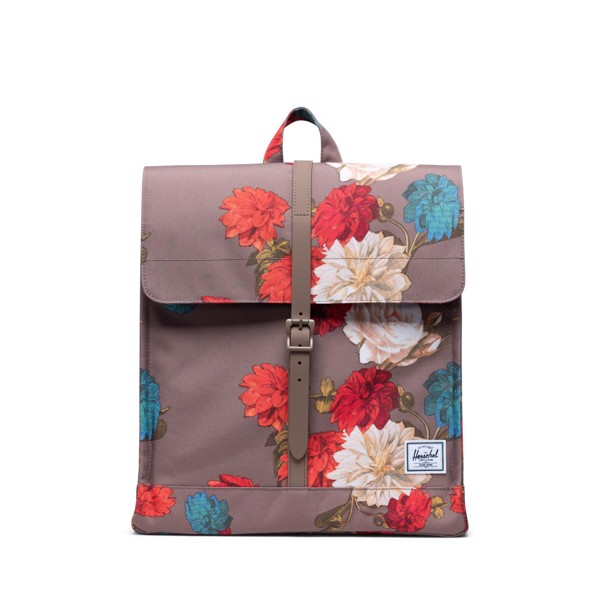 Hersche City Backpack | Mid-Volume - Vintage Floral/Pine Bark