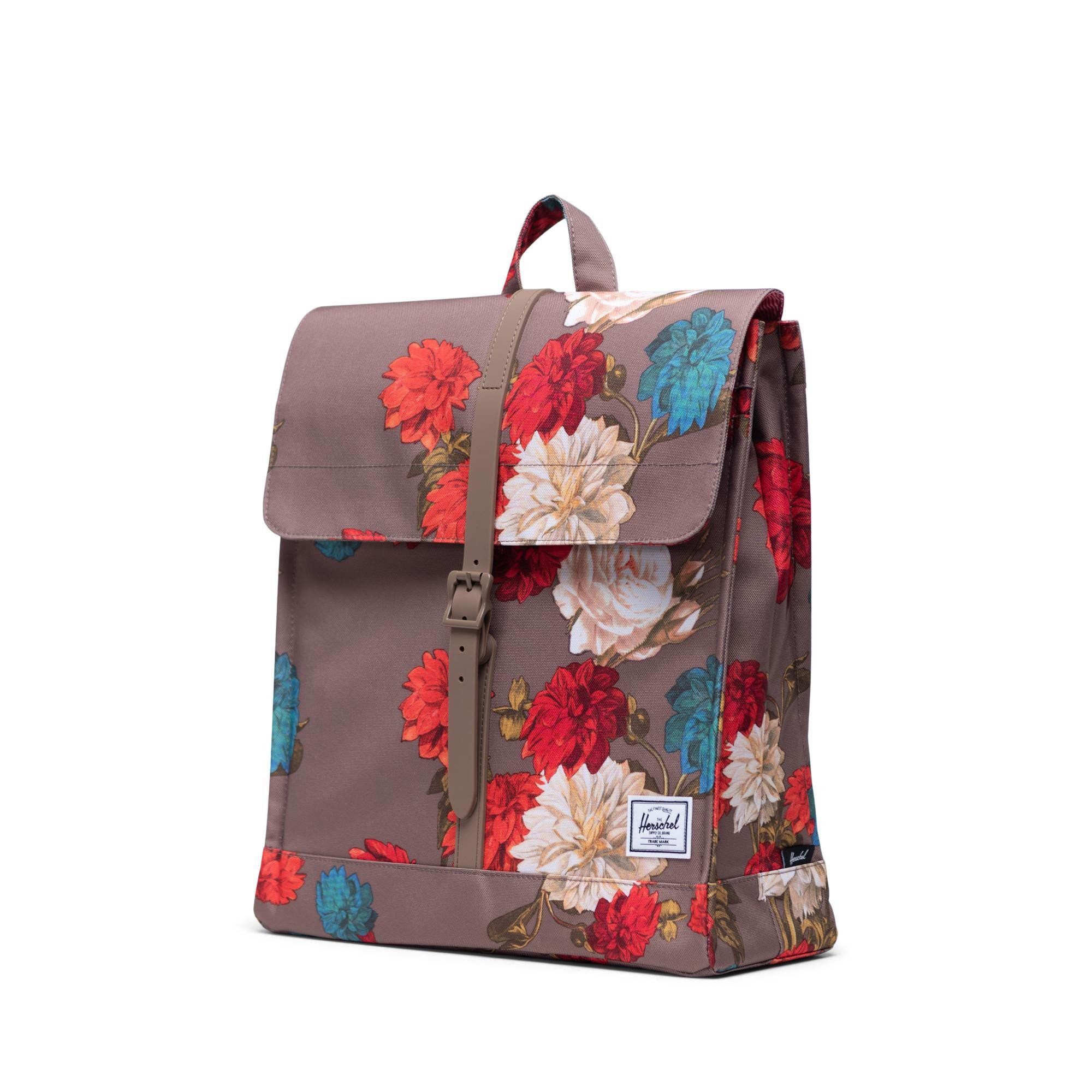 Herschel City Backpack | Mid-Volume - Vintage Floral/Pine Bark