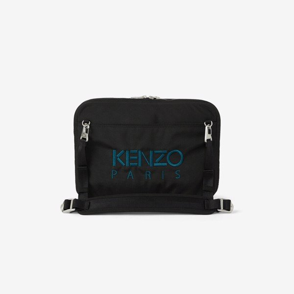 KENZO Kampus Tiger Crossbody Briefcase - Black