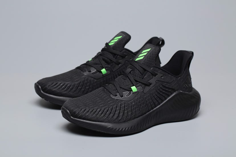 adidas Alphabounce 'Black/Green'