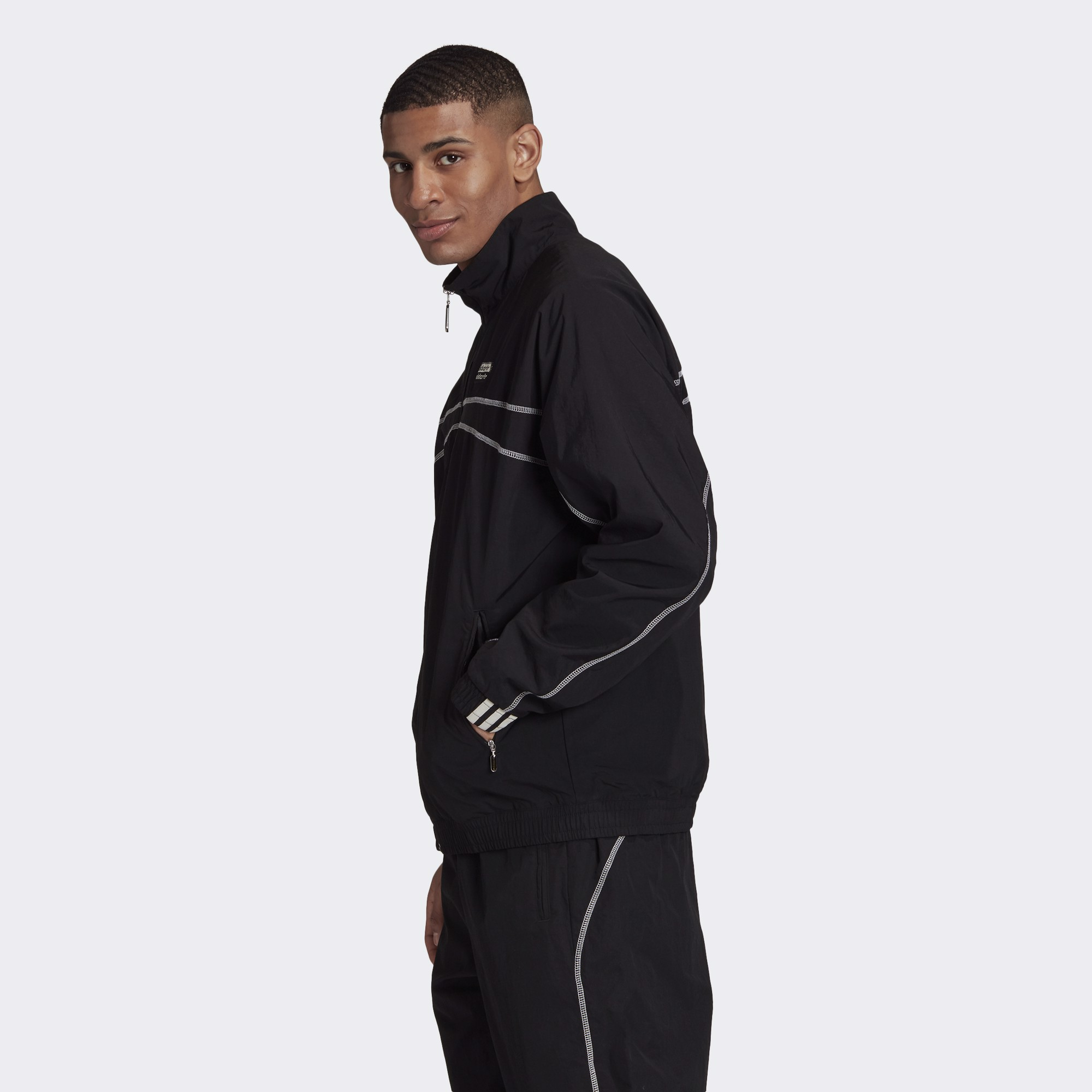adidas Track Jacket - Black/White