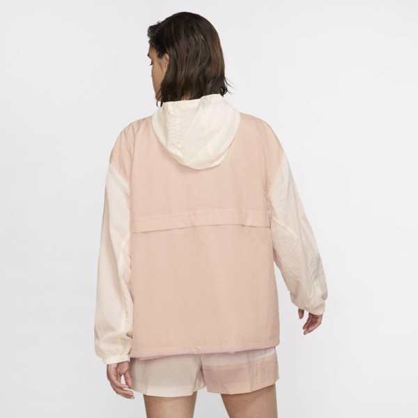 Nike Sportswear Icon Clash Woven Jacket - Beige/Fire Pink
