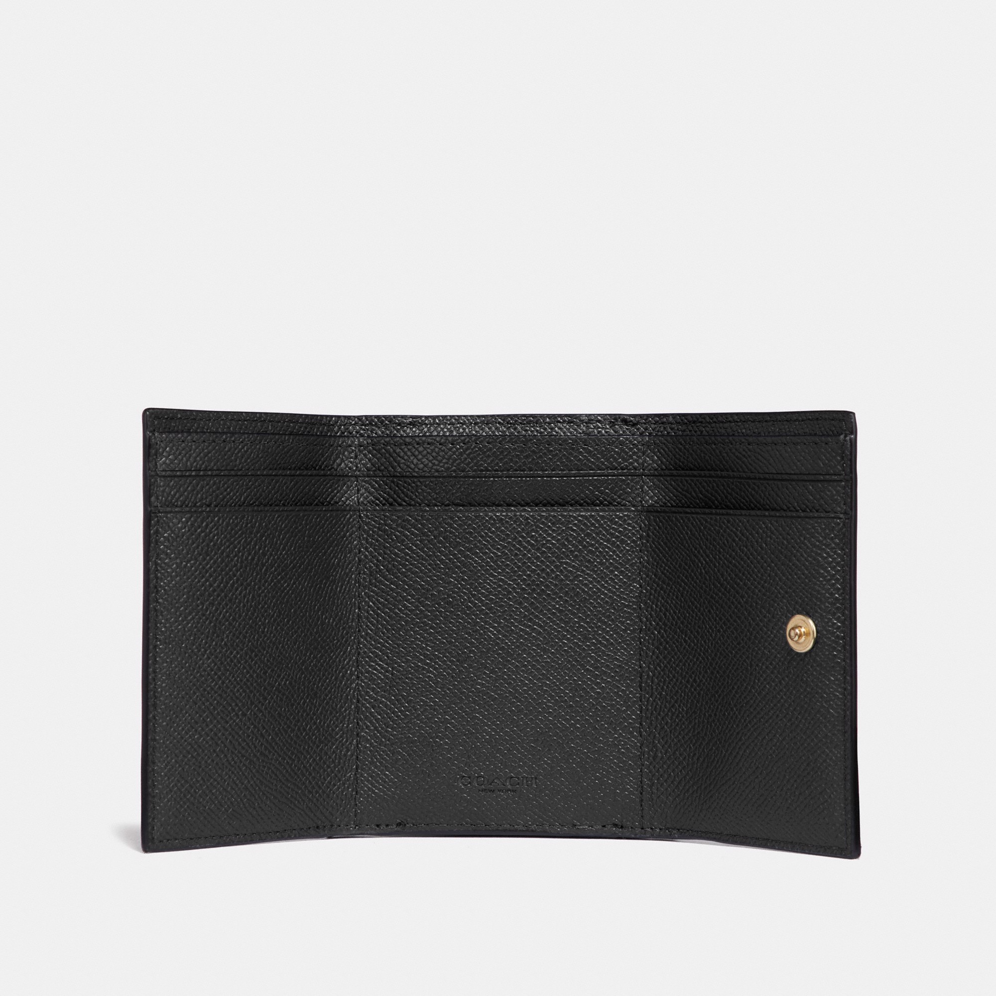 Coach Small Flap Wallet 'Black'