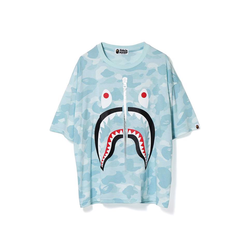 Pastel Color Camo Shark Oversized Tee Ladies SS18