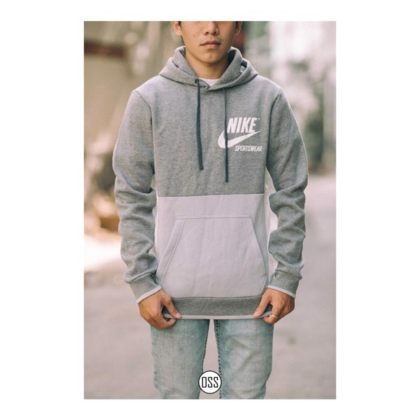 Nike NSW Fleece Pullover Hoodie 'Grey'
