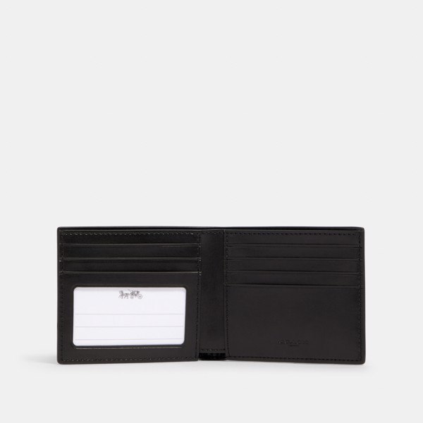Coach ID Biilfold Wallet With Horse and Carriage Print 'Black'