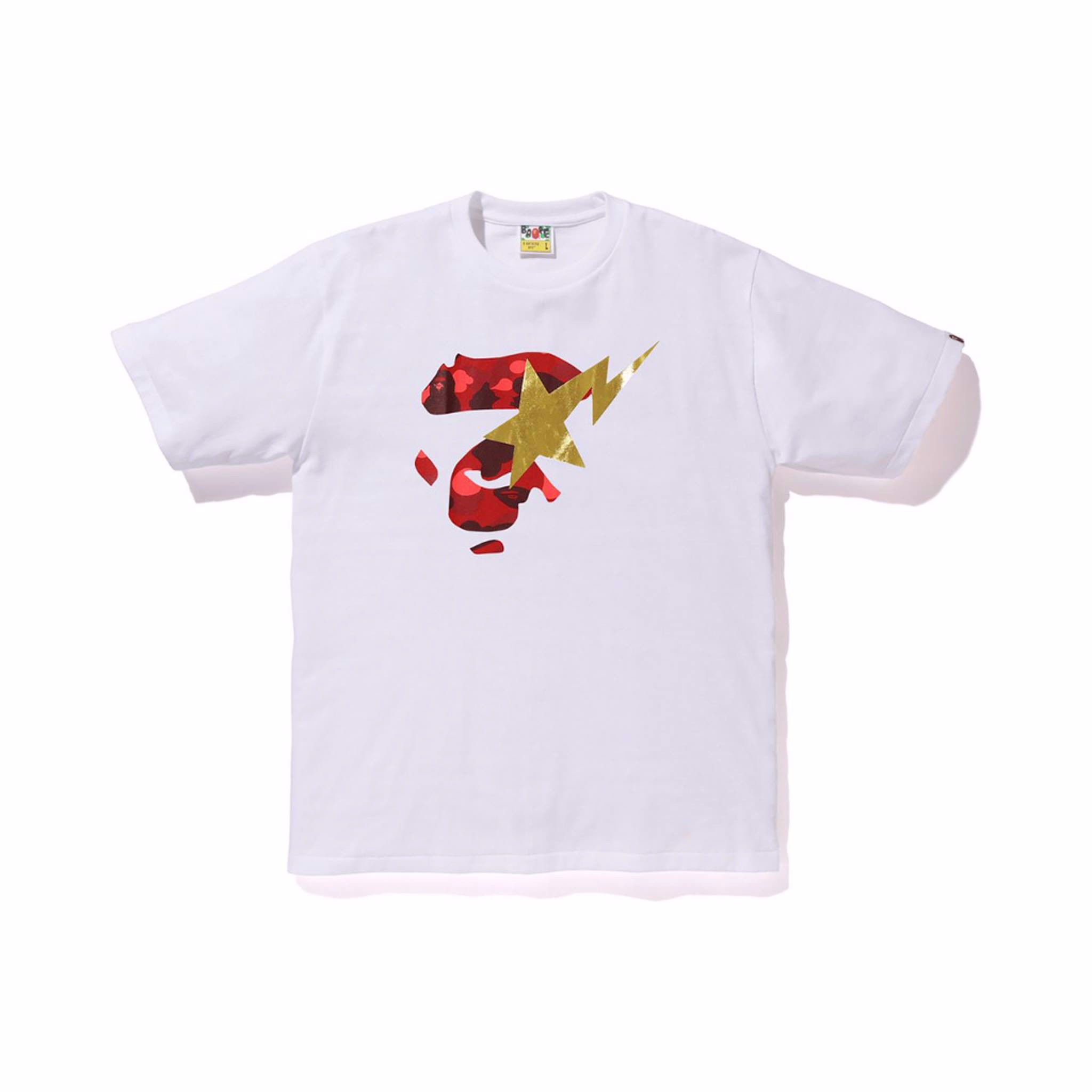 Color Camo Ape Face On Bapesta Tee SS19