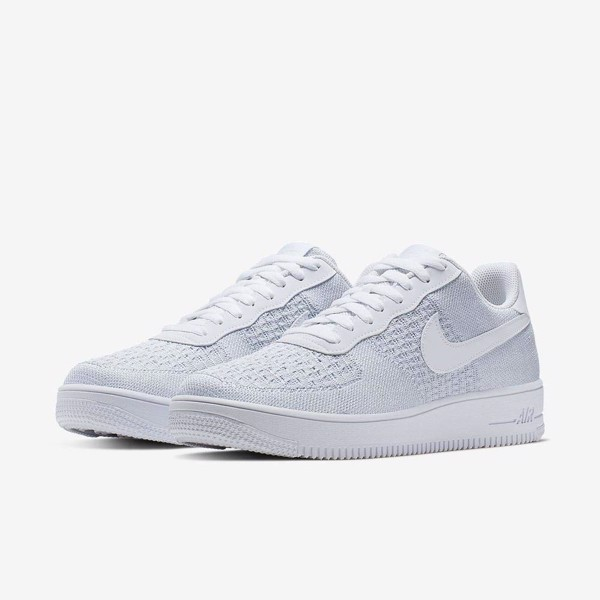 Nike Air Force 1 Flyknit 'Cool White'