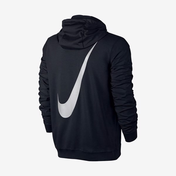 Nike Sportswear Fleece Hybrid Full-Zip Hoodie - Black