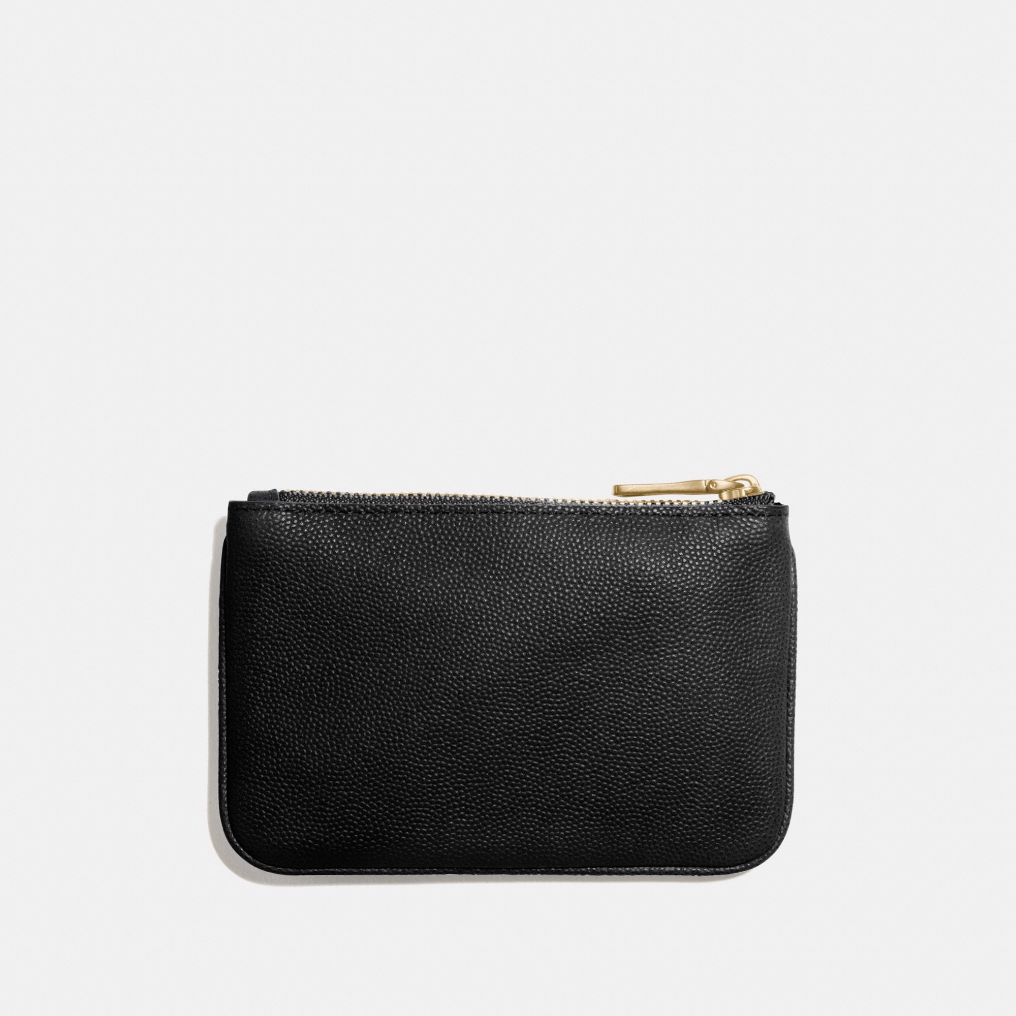 Coach Leather Coin Card Case 'Black'