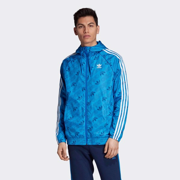 adidas Monogram Windbreaker 'Blue'