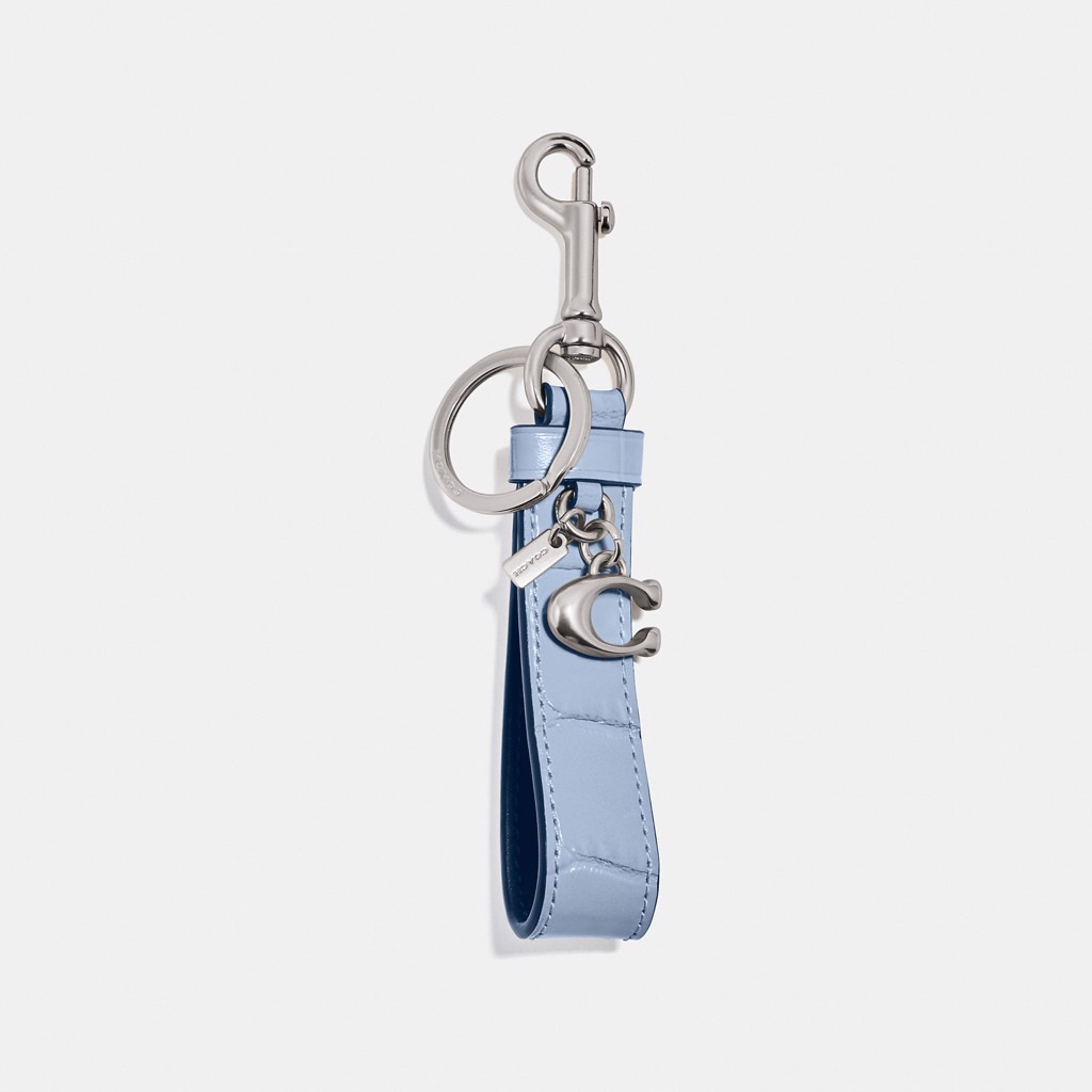 Coach Loop Bag Charm 'Silver/Mist'
