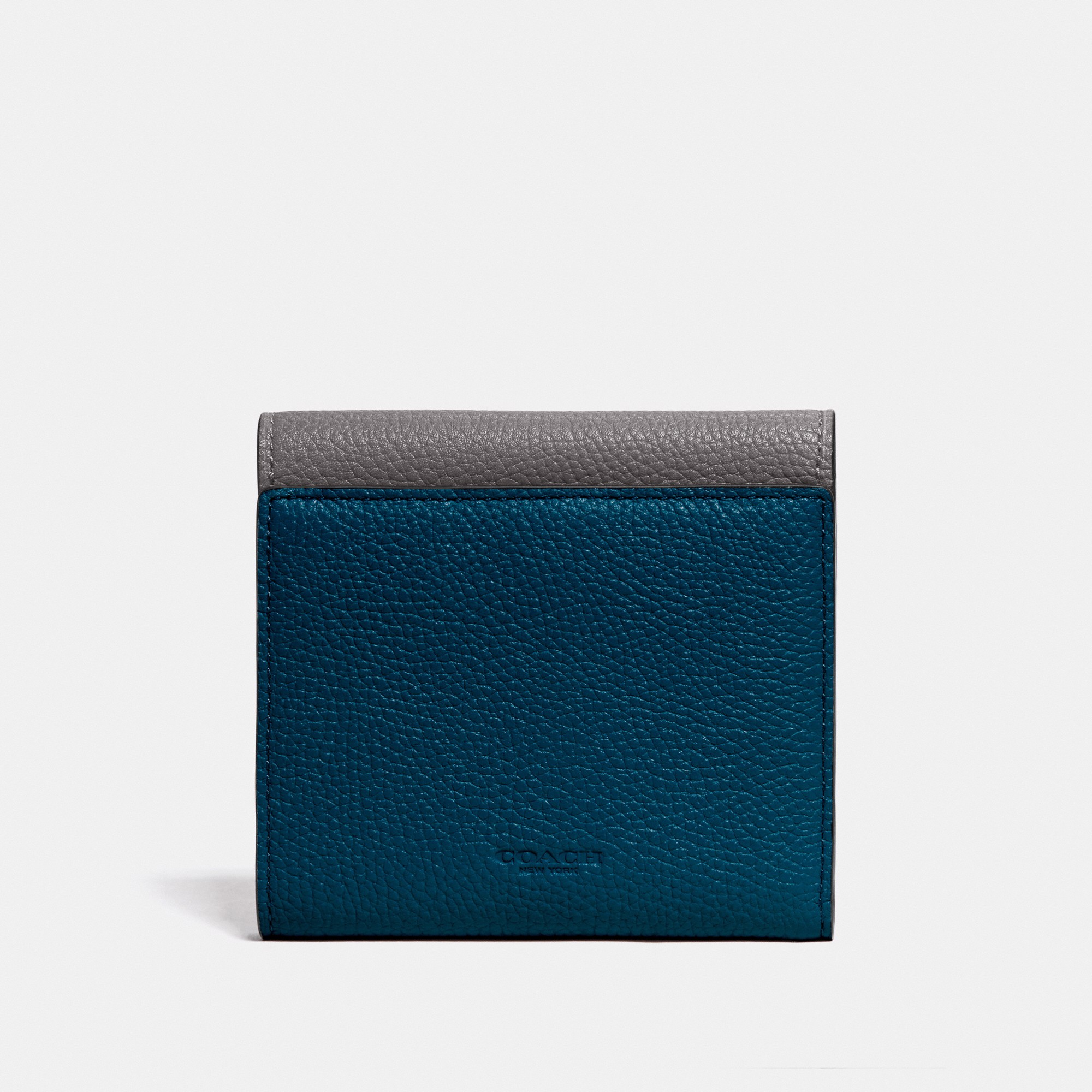 Coach Tabby Small Wallet In Colorblock 'Heather Grey/Pewter'