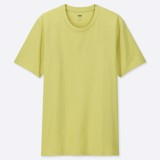 Uniqlo Crew Neck Short-Sleeve T-Shirt 'Yellow'