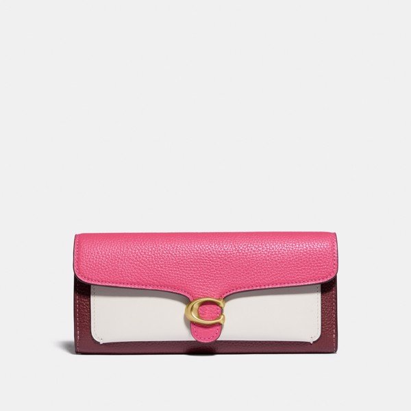Coach Tabby Long Wallet In Colorblock