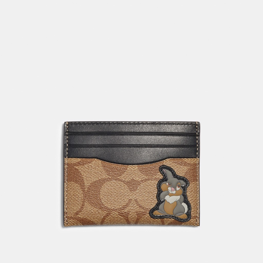 Disney x Coach Slim Card Case In Signature Canvas With Thumper