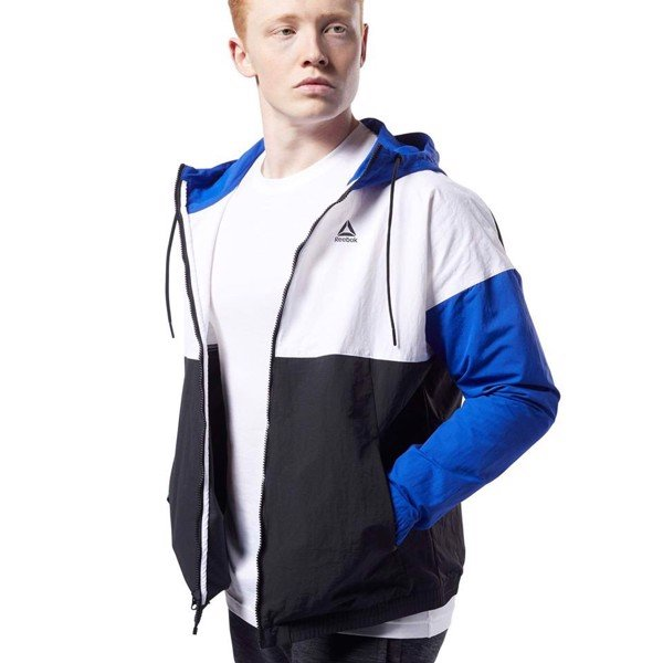 Reebok Training Essentials Linear Logo Windbreaker 'Blue'