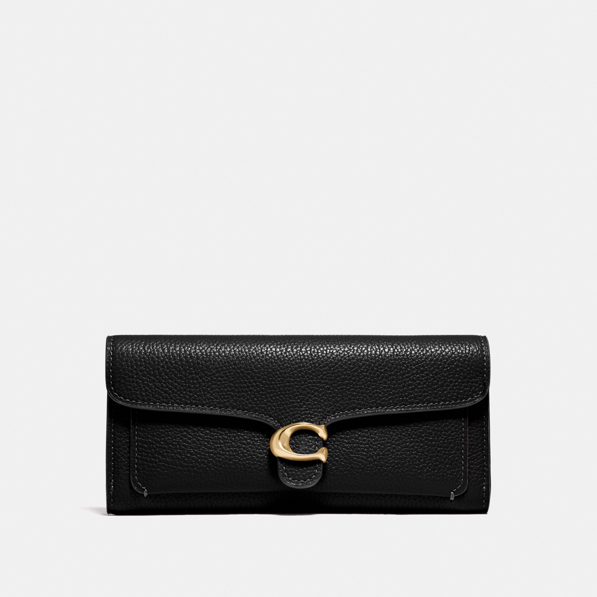 Coach Tabby Long Wallet 'Black/Gold'