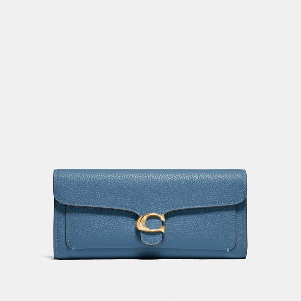 Coach Tabby Long Wallet 'Brass/Lake'
