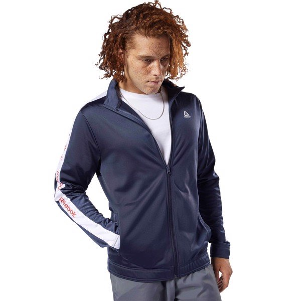 Reebok Essentials Linear Logo Track Jacket 'Heritage Navy'