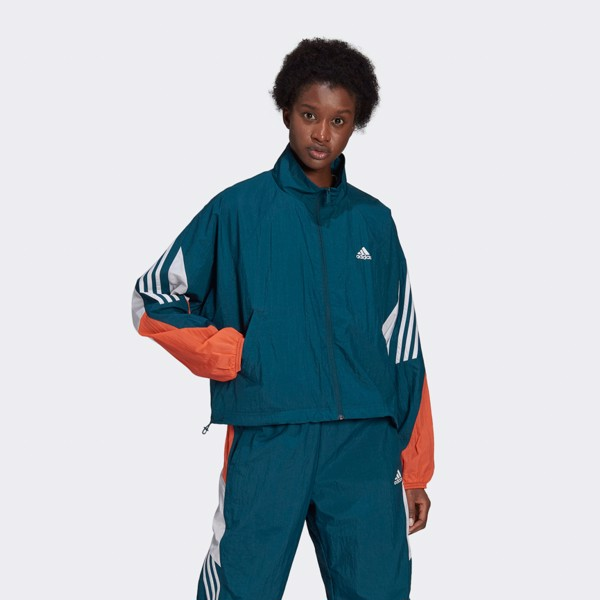 adidas Sportswear Game-Time Woven Track Jacket - Turquoise