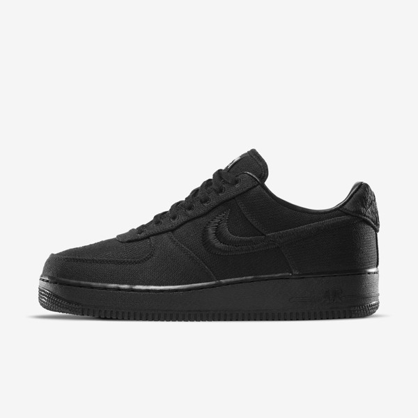 Stussy x Nike Air Force 1 - Triple Black