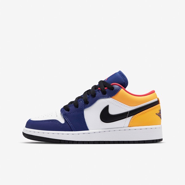 Air Jordan 1 Low GS - Royal Blue/Yellow