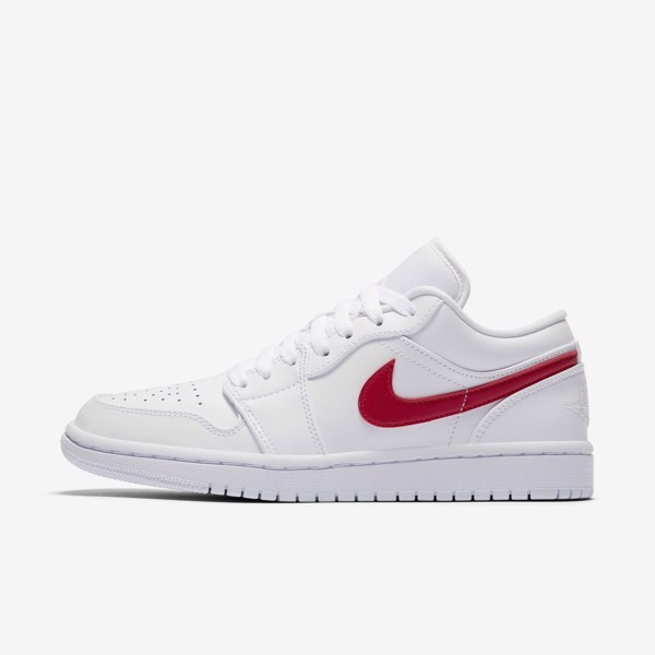 Air Jordan 1 Low WMNS - White/Red