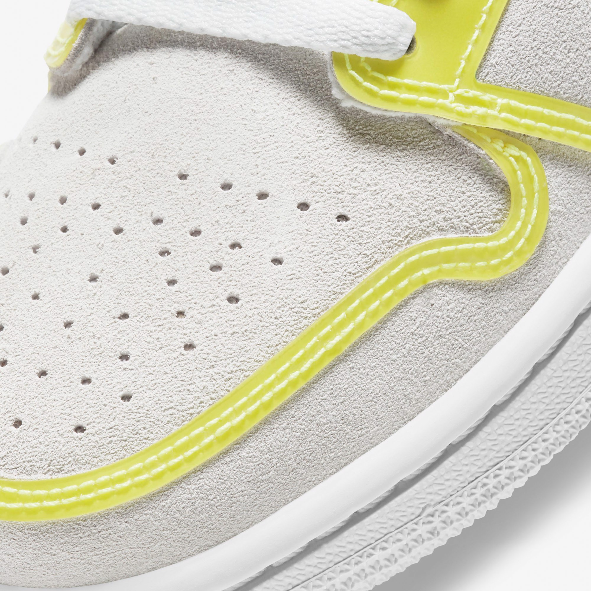 Air Jordan 1 Mid LX - White/Opti Yellow