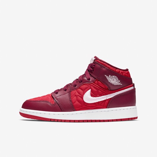 Air Jordan 1 Mid SE - Gym Red/Dark Beetroot